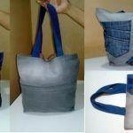 DIY Bolso con flechas reciclando vaqueros