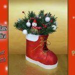 Bota de Santa Claus con botella de plástico