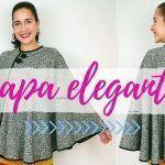 DIY Capa abrigo para mujer
