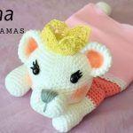 Leona guarda pijamas en amigurumi crochet