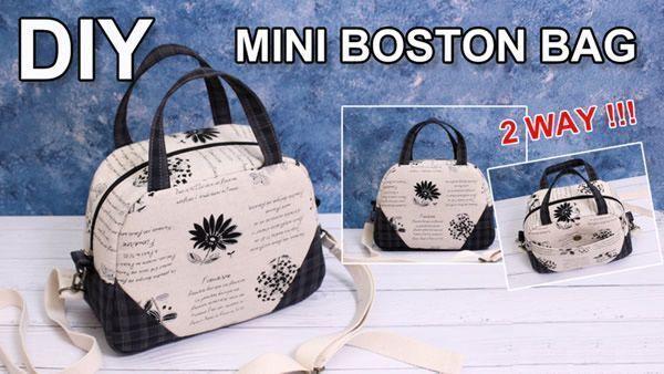 DIY Mini bolso Bostón con patrones
