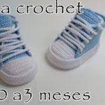 Tenis de bebe tejido a crochet