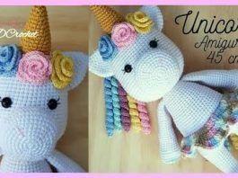 Patrón de Crochet en Inglés y Español - Mimi El Unicornio Amigable ... | 198x265