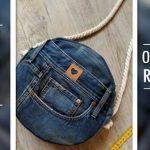 DIY Bolso Jeans redondo