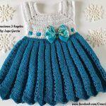 DIY Vestido tejido a crochet Frozen