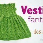 Vestido fantasía tejido a dos agujas