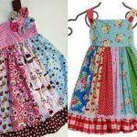 Vestido patchwork para niña