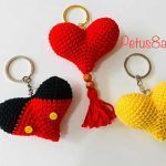 Corazón crochet amigurumi fácil
