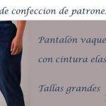 Pantalón vaquero con cintura elástica tallas grandes