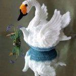 DIY Cisne tejido a crochet
