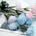 DIY Ramo de claveles con servilletas