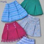 Falda con pliegues fácil de hacer