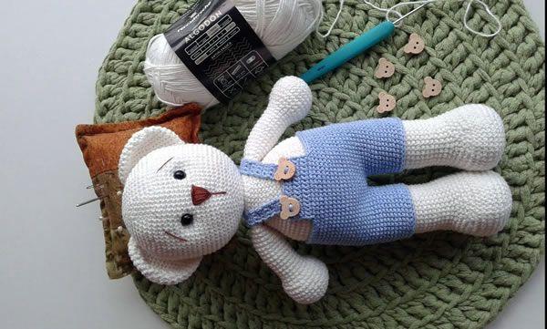 Oso Panda Patrón de Crochet Patrón de Ganchillo Amigurumi | Etsy | 361x600