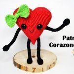 Corazón amigurumi patrón gratis