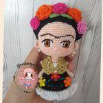Mini Frida patrón amigurumi gratis