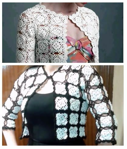 Diy Chaqueta Cardigan Granny Tejido A Crochet Patrones Gratis