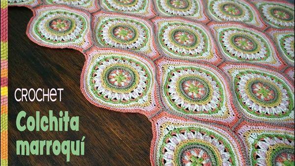 DIY Colcha marroquí tejida a crochet