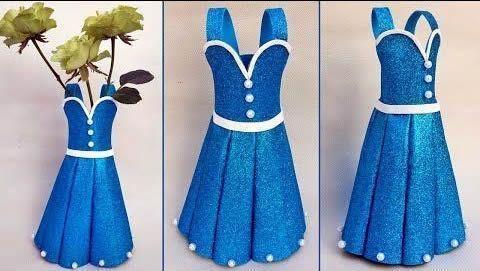DIY Jarrón en forma de vestido
