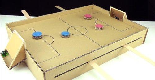 DIY Juego de mesa de fútbol de cartón
