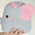 DIY Cojín elefante amigurumi
