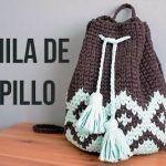 Bolso mochila crochet fácil para verano