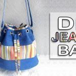 DIY Bolso de banda larga jeans