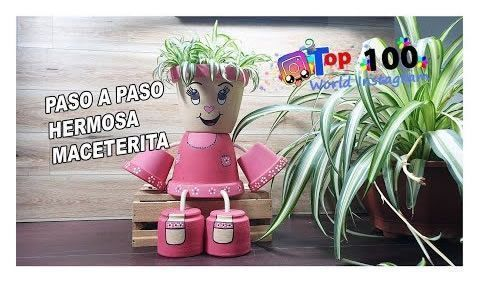 DIY Muñeca maceta para decorar paso a paso
