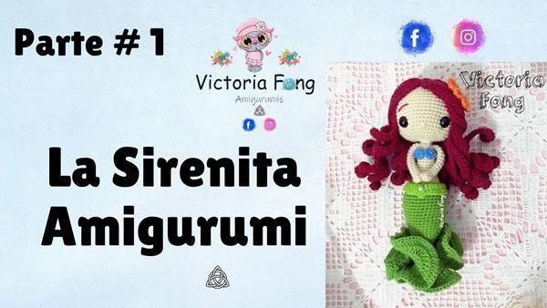 Sirenita amigurumi muñeca tejida a crochet