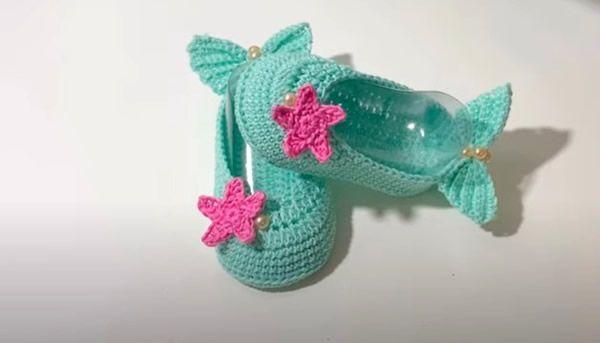 DIY Zapatitos de sirenita tejidos a crochet