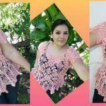 DIY Blusa granny romántica tejida a crochet