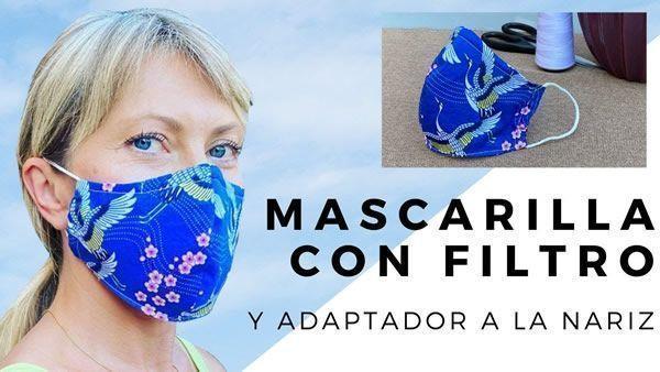 DIY Mascarilla con filtro y adaptador a la nariz