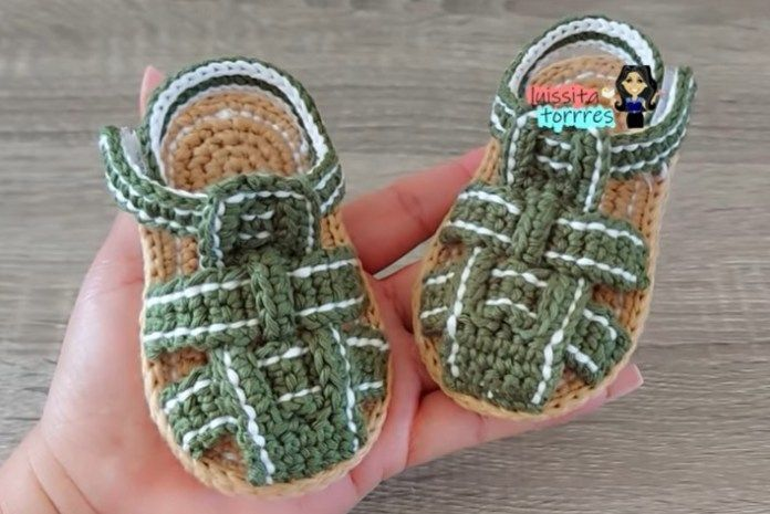 DIY Sandalias a crochet para bebé