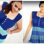 DIY Blusa o vestido tejida a crochet