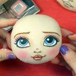 Como pintar la carita a las muñecas de tela