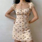 Vestido casual vintage retro