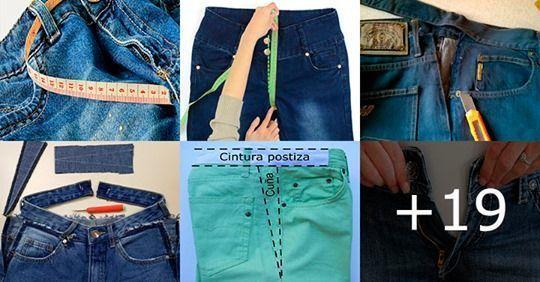 Aumentar la cintura de un pantalón paso a paso