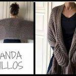 Bufanda con bolsillos a crochet muy fácil