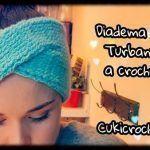 Diadema Turbante cruzado a crochet