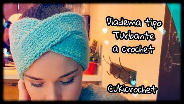 Diadema Turbante cruzado tejido a crochet