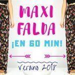 Maxi Falda Larga con volantes muy fácil