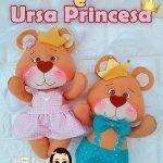 Ositos Príncipe y Princesa en fieltro con moldes