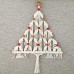 DIY Árbol de Navidad en macramé