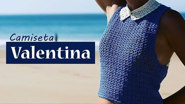Top Camiseta Valentina tejida a crochet
