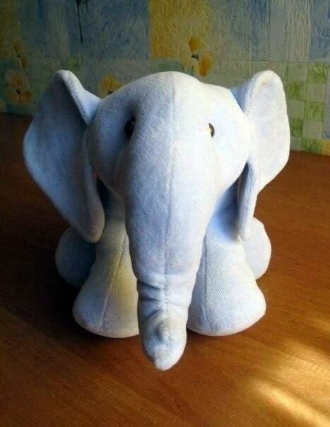 Muñeco Elefante de tela con moldes