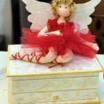 Joyero con muñeca hada bailarina para San Valentín