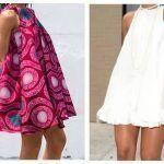 Vestido sin mangas moda africana