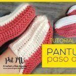 DIY Pantuflas a crochet muy fácil paso a paso