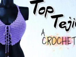 Top Diamante tejido a crochet paso a paso
