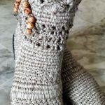 DIY Botas modelo rustico a crochet paso a paso