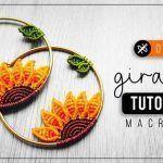 DIY Aretes de girasol en macramé